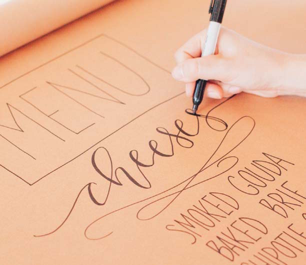 The Perfect Summer DIY Menu in Just 8 Steps | Jen Wagner | Happy Hand Lettering | ArtistsNetwork