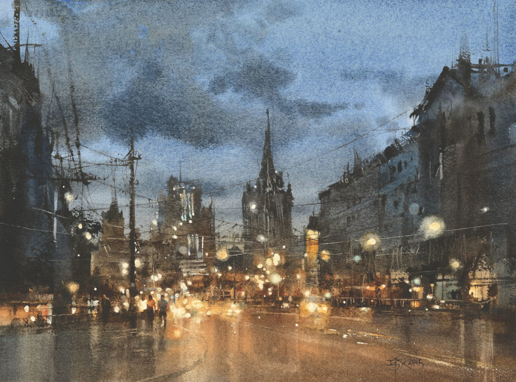 The Moscow Nocturne No. 3 by Chien Chung-Wei | How Contrasting Light and Dark Creates an Explosive Effect in Art | Artists Network