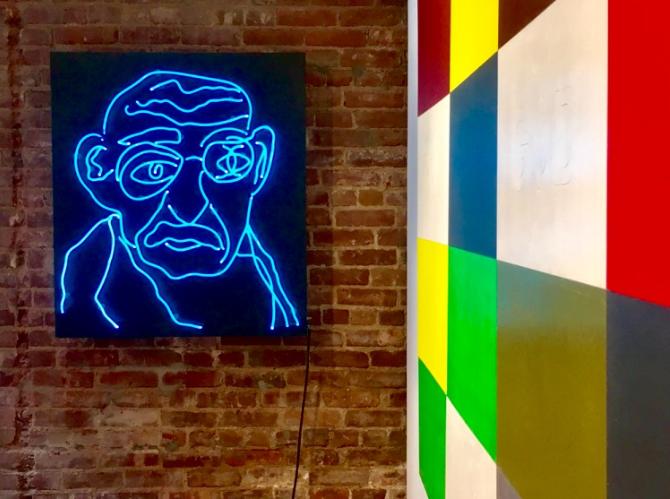 Val Kilmer | Valholla | art show | NYC | abstract art | pop culture art