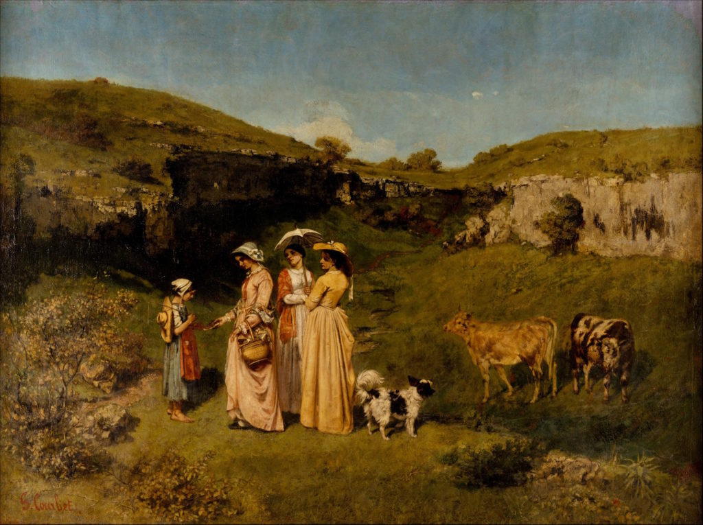 Young Ladies of the Village by Gustave Courbet | The First Realist | Realism | Oil Painting | Art History | Artists Network