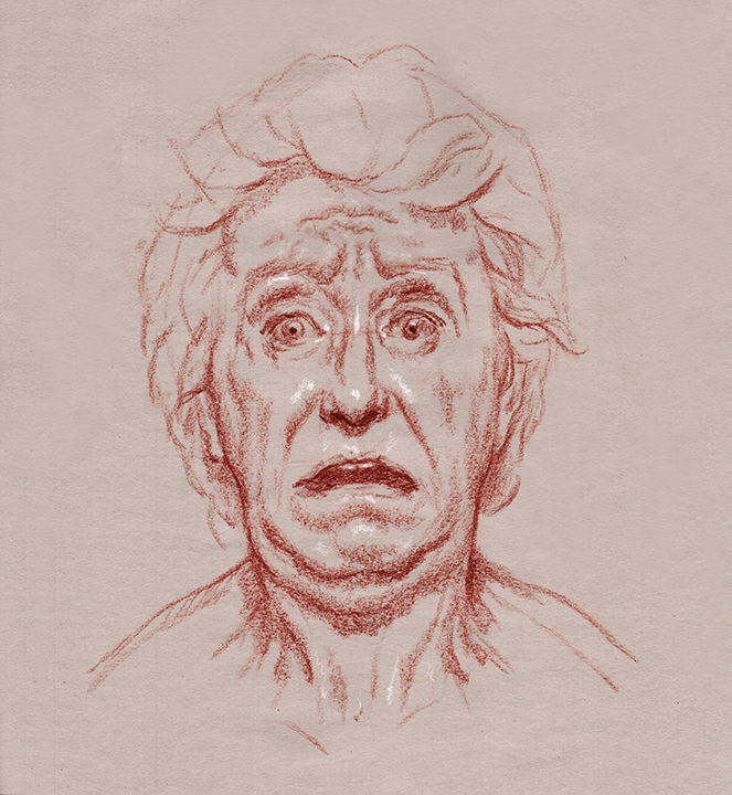 Line Drawings Of Facial Expressions : Line drawing face minimalist sad pictures