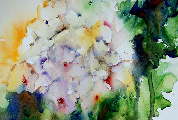 Innocence by Jean Haines, watercolor painting. Tips from the artist and instructor.