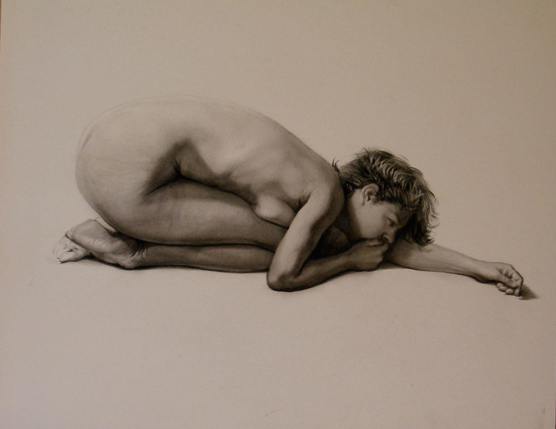 Carla by Steven Assael, drawing