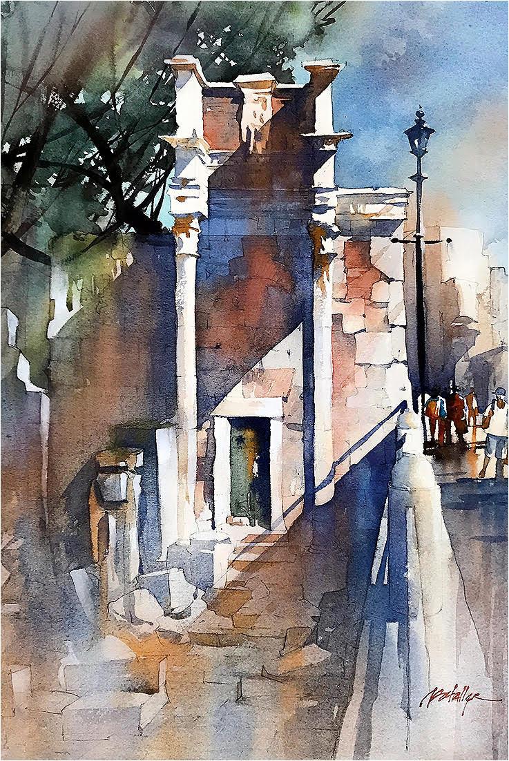 Thomas Schaller Original Watercolor Giveaway Painting | ArtistsNetwork | #WinSchaller