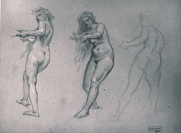 Human figure drawing by william adolphe bouguereau
