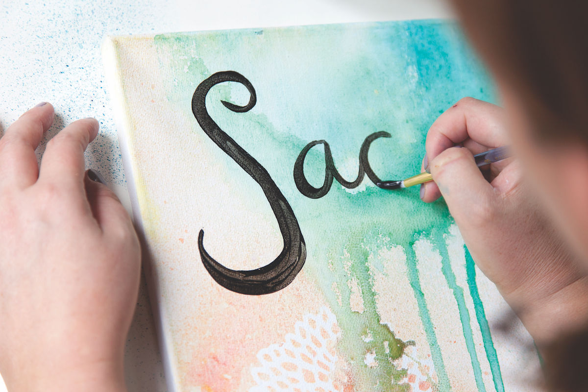 Adding Words to Paintings | Calligraphy | Words in Art | Writing with a Brush | Mati Rose McDonough and Faith Evans-Sills | ArtistsNetwork