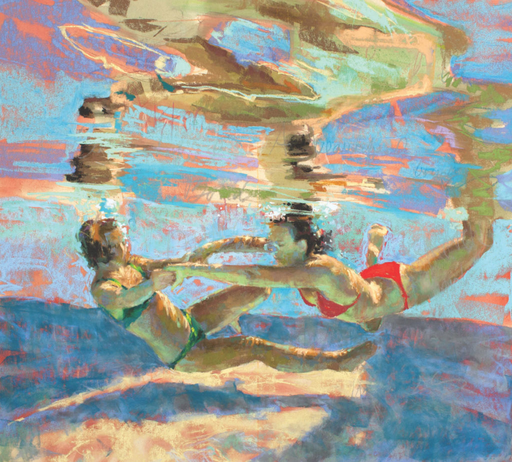 Alliance demo by Michele Poirer-Mozzone, step 5 | How to Create Colorful Underwater Scenes in Pastel | Artists Network
