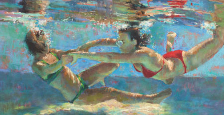 Alliance by Michele Poirer-Mozzone, cropped | How to Create Colorful Underwater Scenes in Pastel | Artists Network