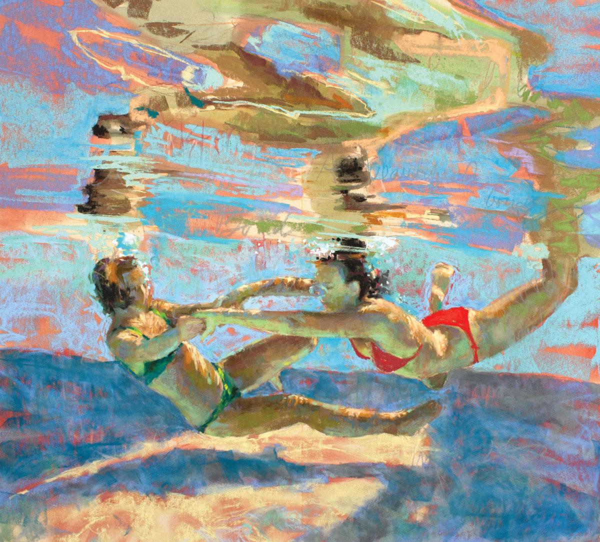 Poirier-Mozzone-underwater-scenes-Alliance-Step5-ArtistsNetwork
