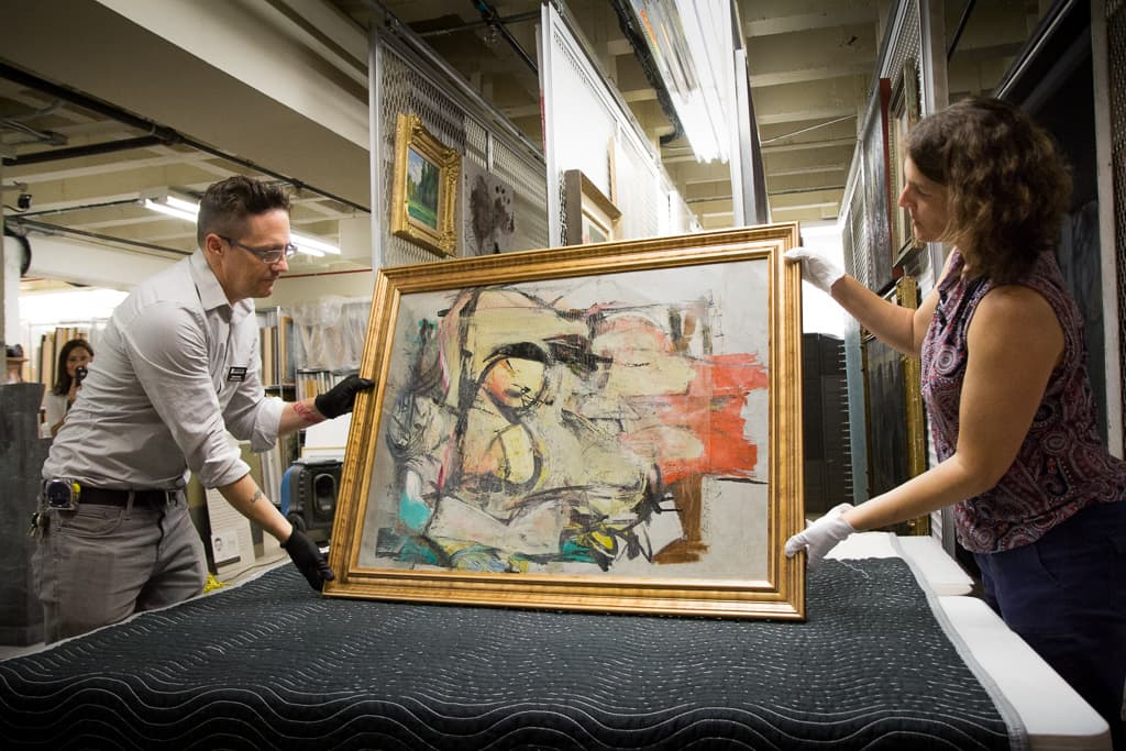 Stolen Willem de Kooning Painting Finally Found After 32 Years | Woman-Ochre by Willem de Kooning | Artist Daily