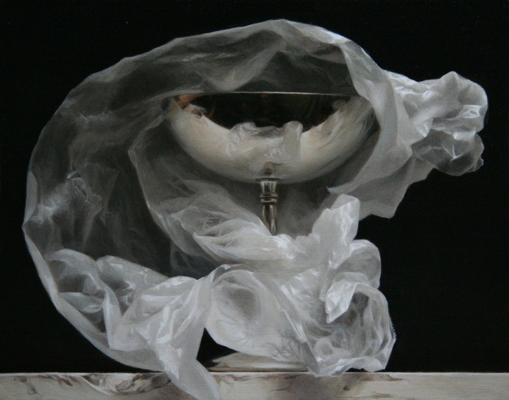 Wrapped Silver Goblet by Sadie Valeri, oil on panel
