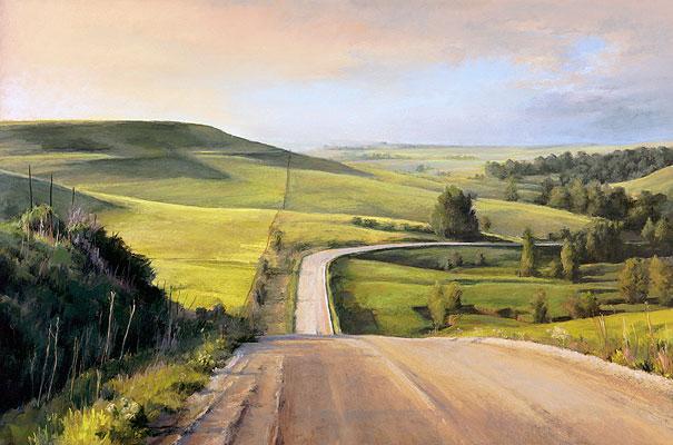 Miles to Go by Elaine Lierly Jones, pastel landscape