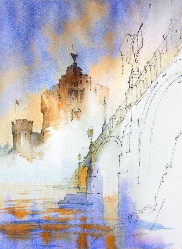 Thomas Schaller atmosphere watercolor landscape ArtistsNetwork