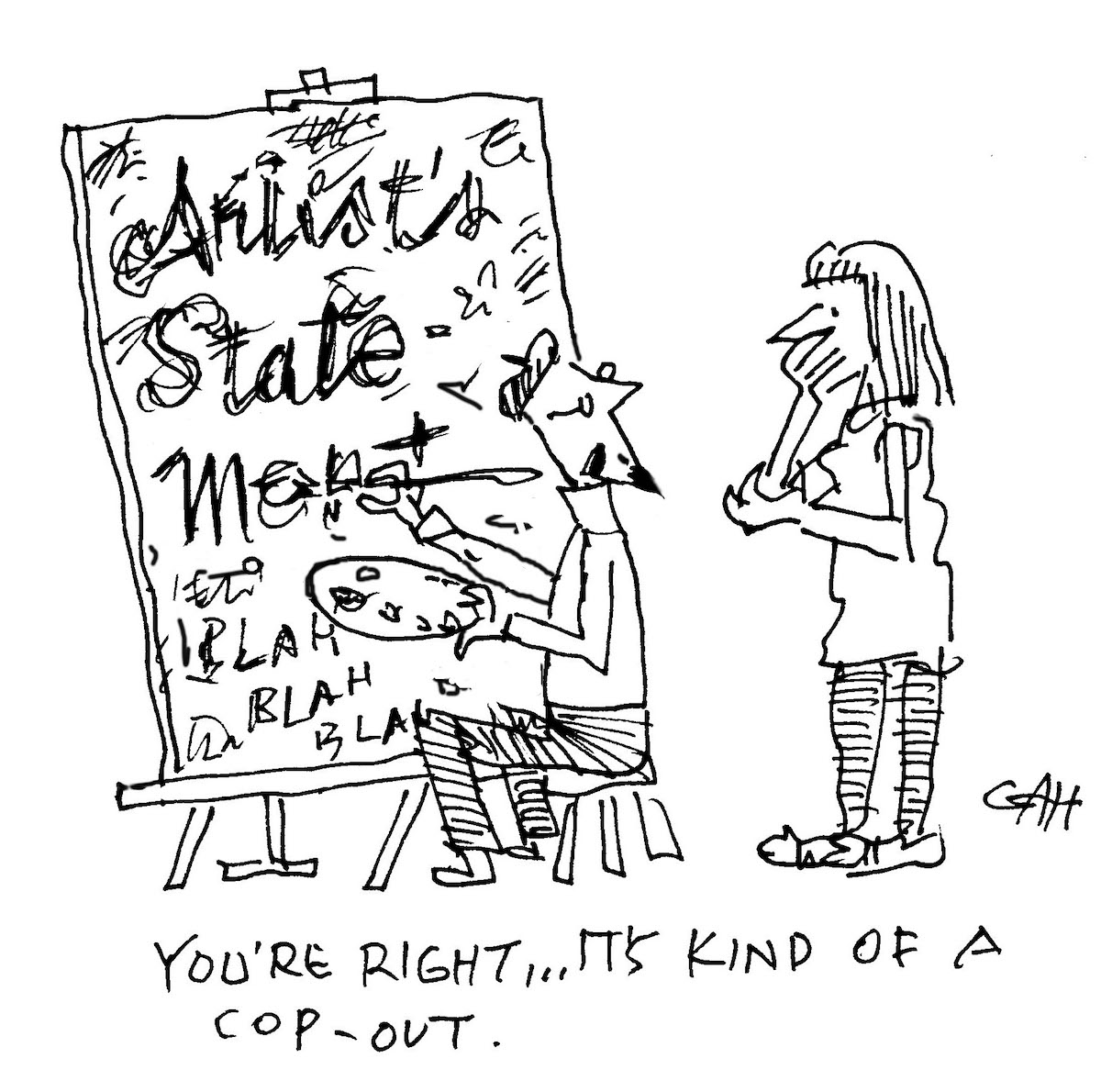 Artist Statement Satirical Cartoon | Tips for Your First Art Exhibit | Artist Statement | Artist Network | Dean Nimmer