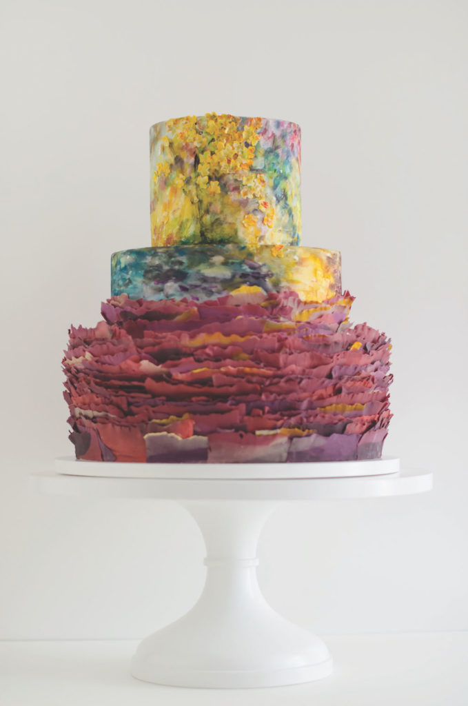 See more of Maggie Austin's cakes in her new book Maggie Austin Cake: Artistry and Technique (Houghton Miffl in Harcourt, 2017), available on Amazon.