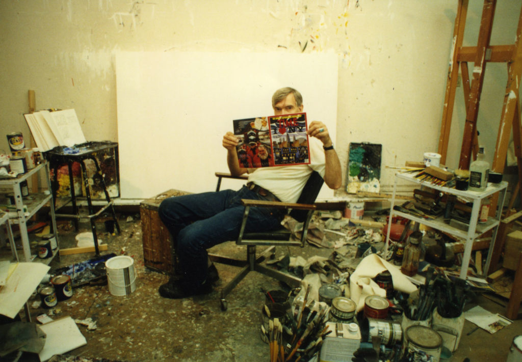 Roger-Brown in the studio