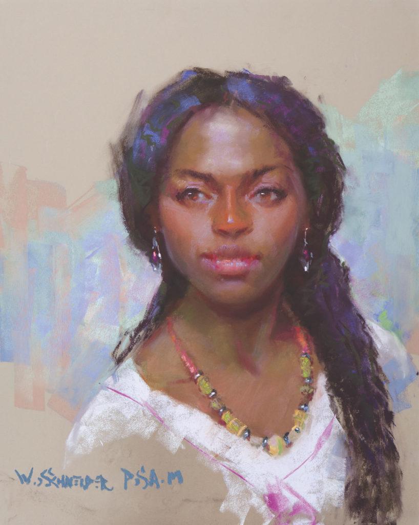 Mandella by William Schneider | Blending Pastels – When and Why | Pastel Journal, Artists Network