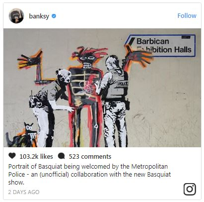 Basquiat inspires Banksy