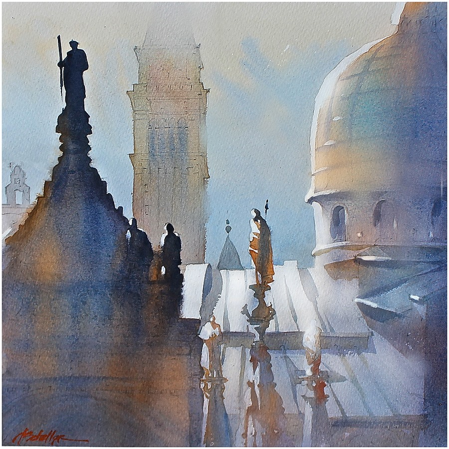 Watercolor painting by Thomas Schaller.