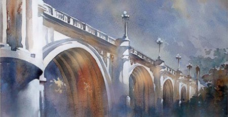 watercolor art by thomas schaller--cityscape and architecture