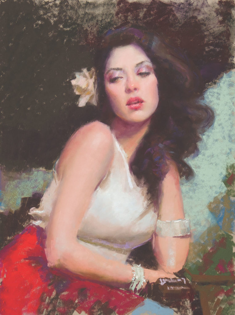 Step 4 – Blending Pastels in Portraiture, Step-by-Step Demo with William Schneider | Pastel Journal, Artists Network