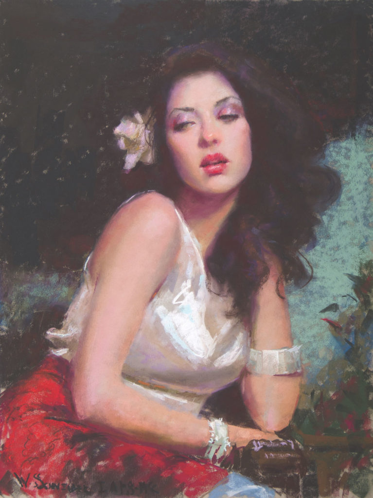 Reckless Abandon by William Schneider | Final Step -- Blending Pastels in Portraiture, Step-by-Step Demo | Pastel Journal, Artists Network