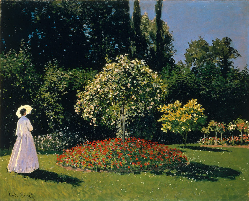 Jeanne-Marguerite Lecadre in the Garden Sainte-Adresse by Claude Monet | A Lesson from Claude Monet on Facing Rejection as Artists | Artists Network