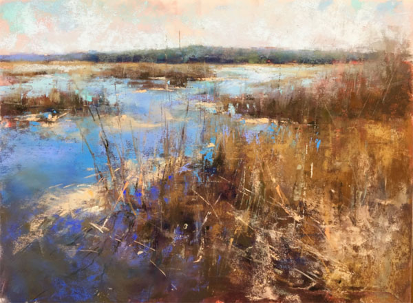 19th_Annual_Pastel_100_Competition_Award_of_ExcellenceLandscape_Aguiar_Marsh_Complements | artistsnetwork.com