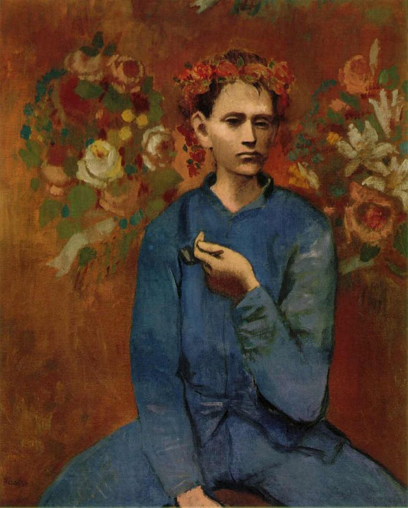 Garçon à la pipe (Boy with a Pipe) by Pablo Picasso from his Rose Period