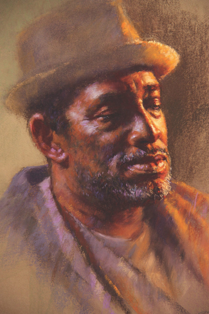 Been Such a Long Day by Gwenneth Barth-White, pastel | Final artwork in pastel portraits demonstration from Gwenneth Barth-White