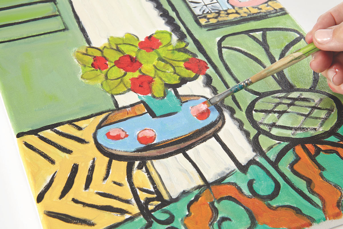 Henri Matisse Inspiration | Artist Ancestors | Art Inspiration | Acrylic Painting | Annie O'Brien Gonzales | Artists Network