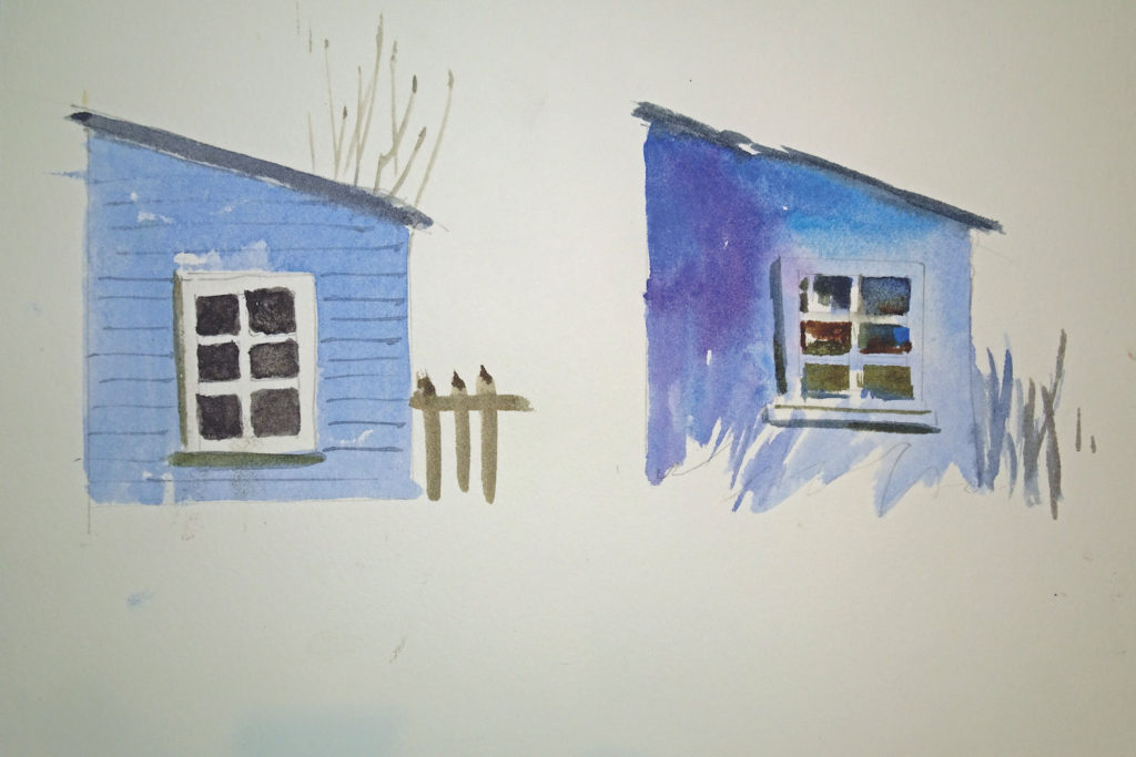 Simple shapes turned into houses | Learn how to turn simple shapes into paintings | Watercolor Artist