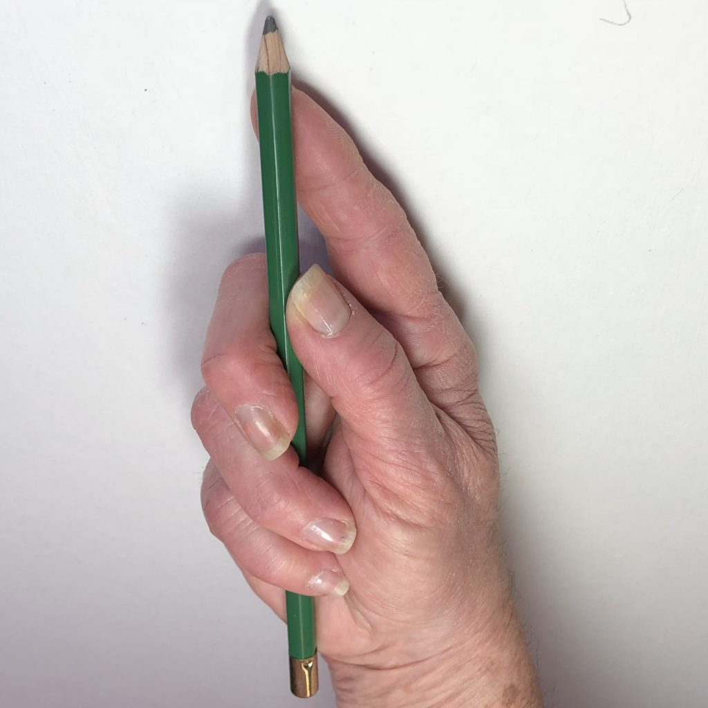 Underhand drawing position