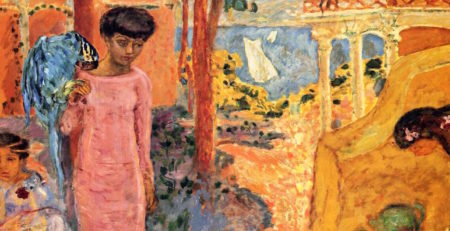 Girl with Parrot by Pierre Bonnard, detail | Visual Storytelling in Art
