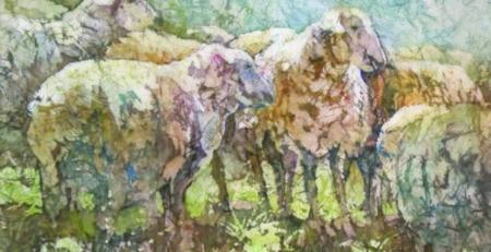 sheep ArtistsNetwork shapes kathie george
