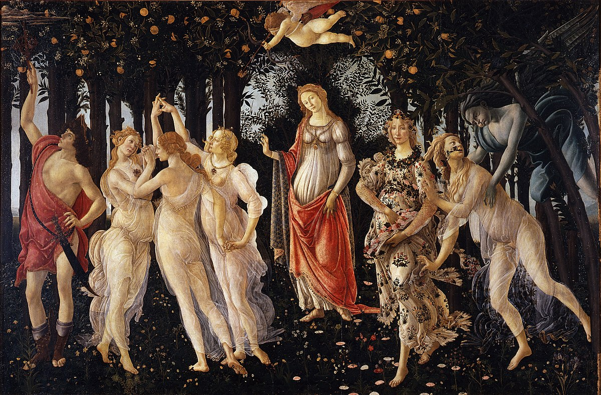 Primavera by Sandro Botticelli, oil painting