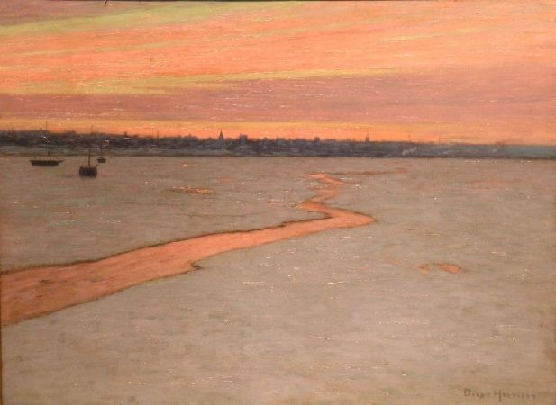 Sunrise - A Break in the Ice by L. Birge Harrison
