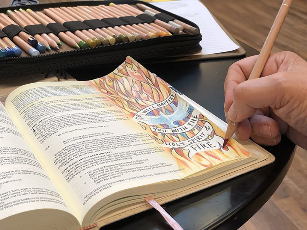 All bible journal images courtesy Sandy Allnock