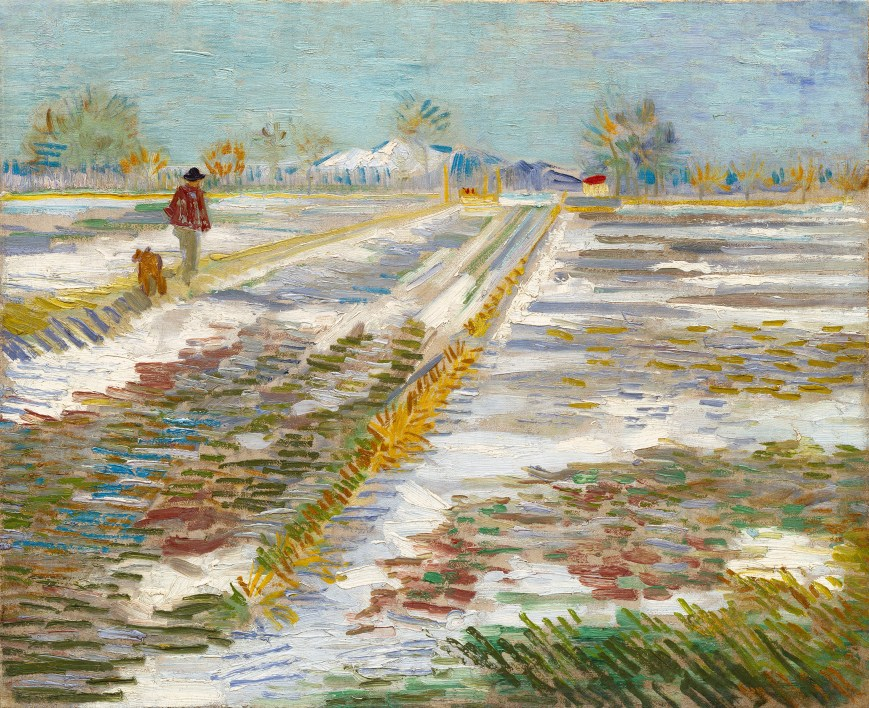Landscape with Snow by Vincent Van Gogh