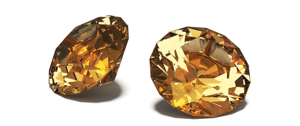 Topaz, Jewels, isolated on White