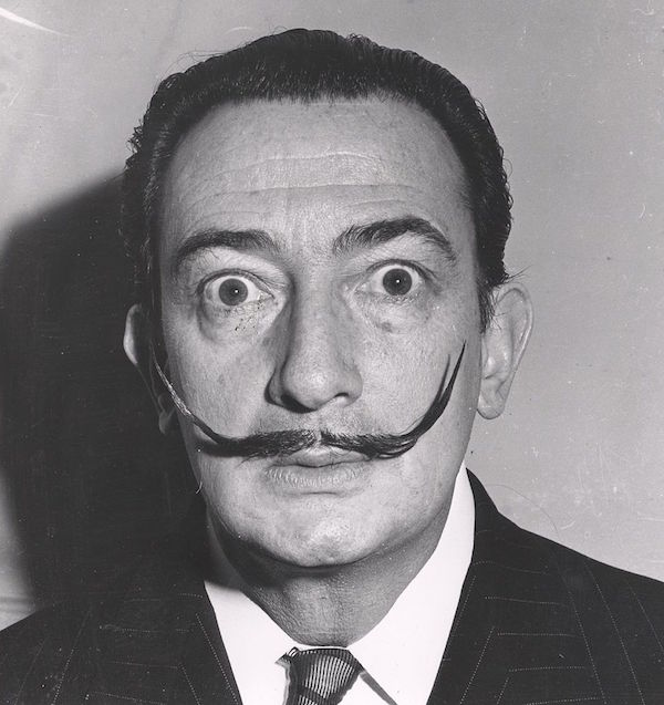 Portrait of the Spanish surrealist painter and sculptor Salvador Dali (1904 - 1989), New York, ca. 1950s. (Photo by Weegee(Arthur Fellig)/International Center of Photography/Getty Images)