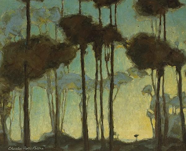 Light Beyond the Trees by Charles Rollo Peters
