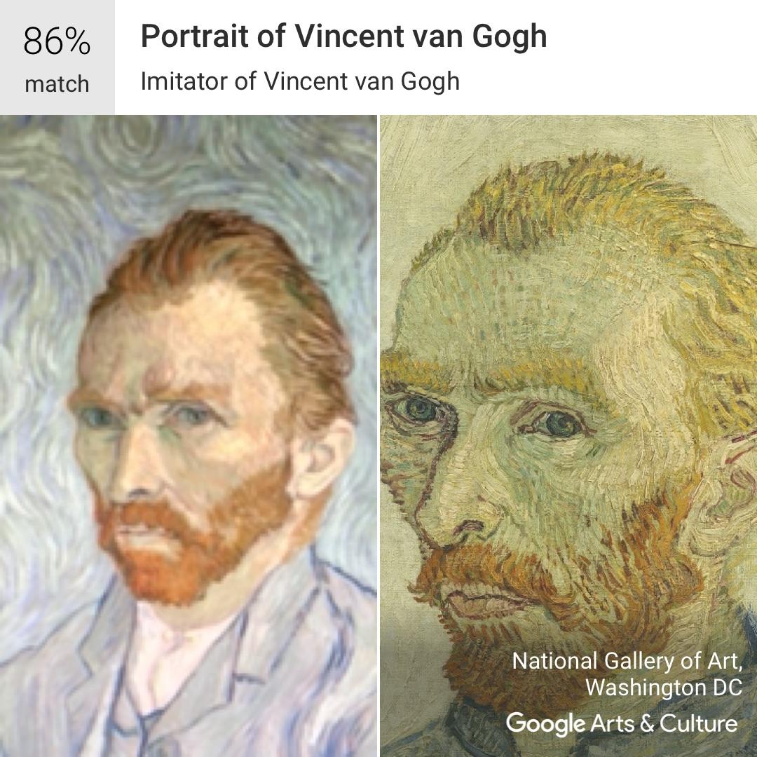 Vincent Van Gogh on the Google Arts and Culture App