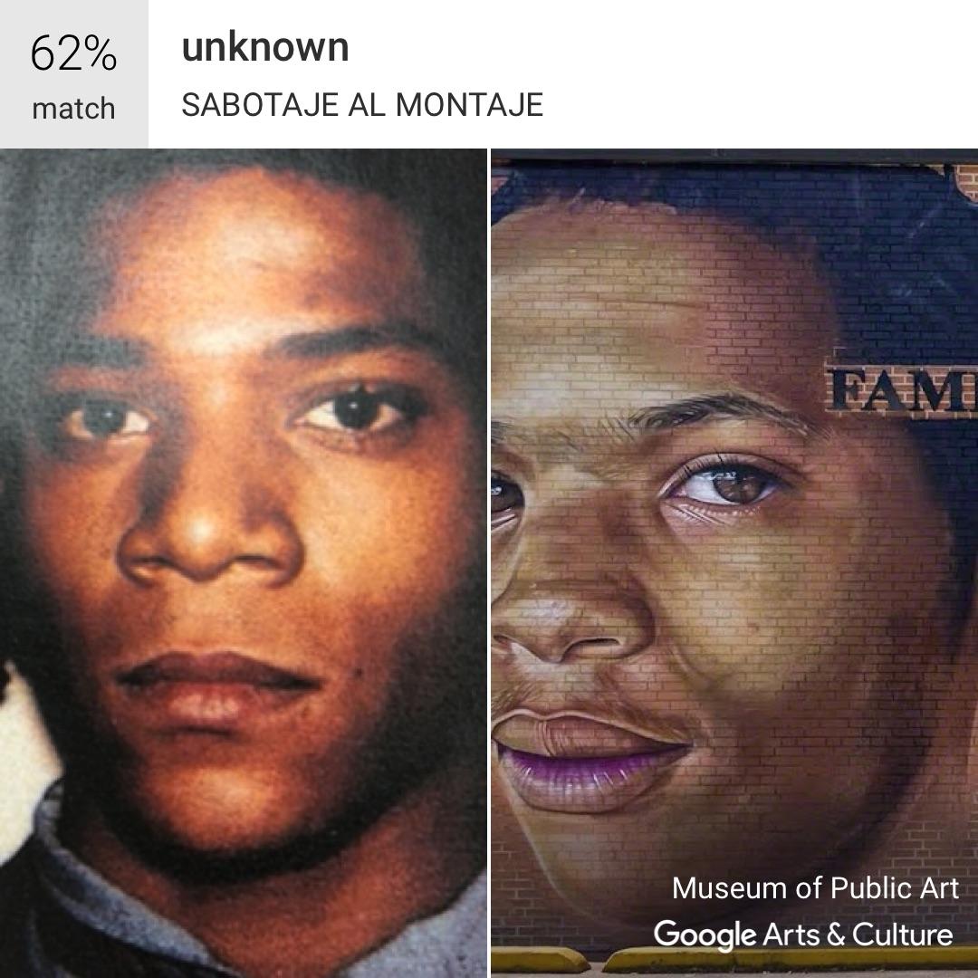 Google app meets Basquiat