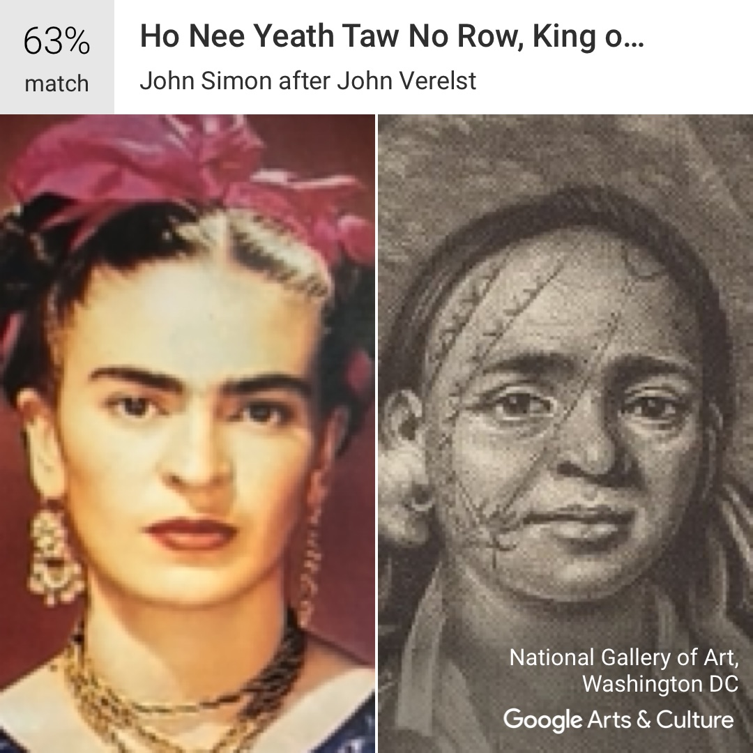 Frida Kahlo's selfie matches
