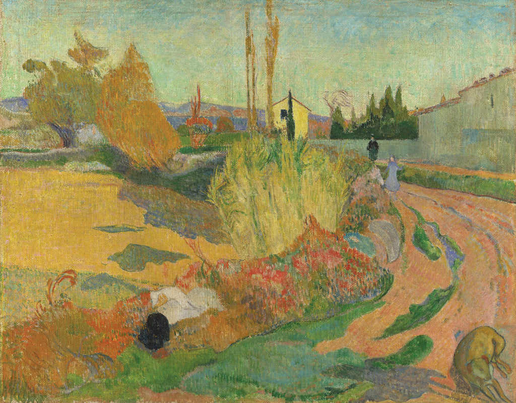 Landscape From Arles by Paul Gauguin 1888; oil on canvas