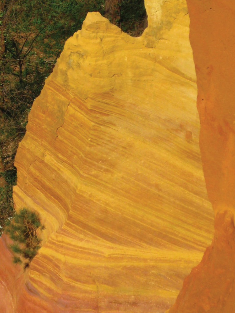Yellow ochre quarry in Roussillon, France