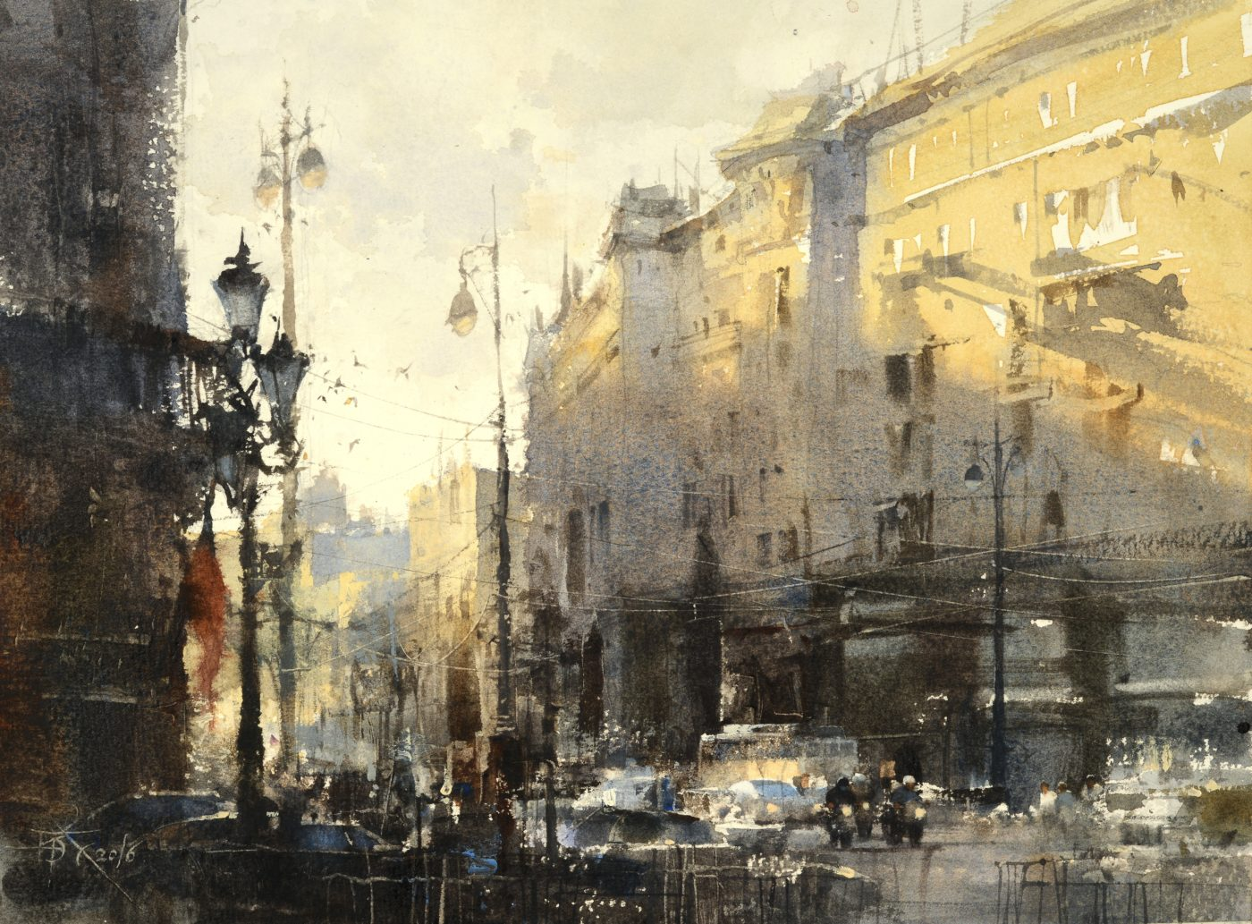 The Last Sunshine Is Still Warm Today by Chien Chung Wei, watercolor painting