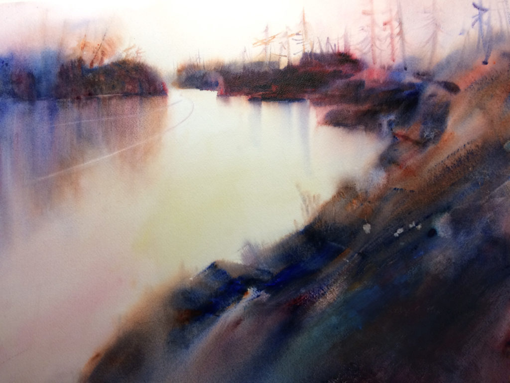 River Bend by Kathy Collins, watercolor painting