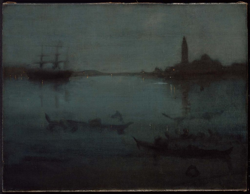 Nocturne in Blue and Silver: The Lagoon, Venice by James Whistler